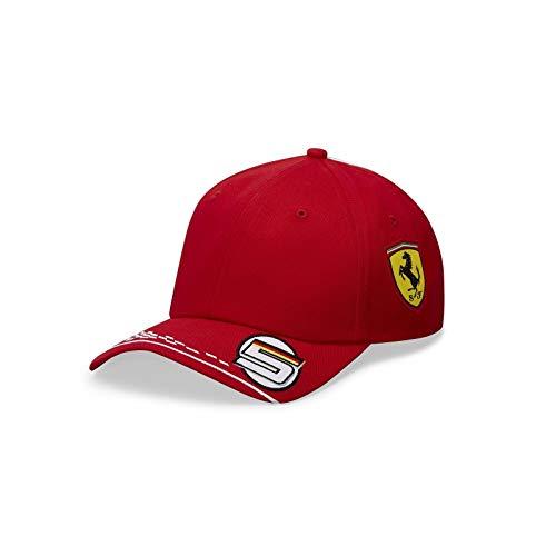 FERRARI F1 Unisex Kinder Ferrari Vettel Driver Cap Baseballkappe, rot, One Size