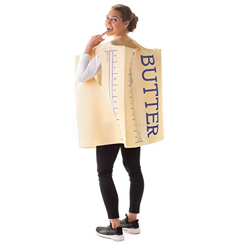 Smooth as Butter Halloween Costume - Funny Breakfast Food Adult Unisex Body Suit
