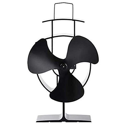 Fan Fan Nan Liang Ventilador de la Estufa de 3 Cuchillas - Ventilador silencioso, calefactado de leña/Quemador de leña - Circulación de Calor ecológica para chimeneas Brisa Fresca