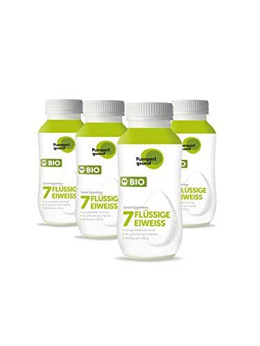 Pumperlgsund Eiklar, Flüssiges Eiweiß bis zu 3 Monate haltbar (Bio, 4 x 220 ml), 16,99 €/L