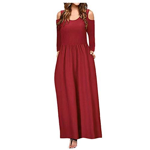 Robe longue d'été KYLEON pour femme - Poches - Imprimé floral - Style vintage bohème - Manches courtes - Style décontracté - - Taille S