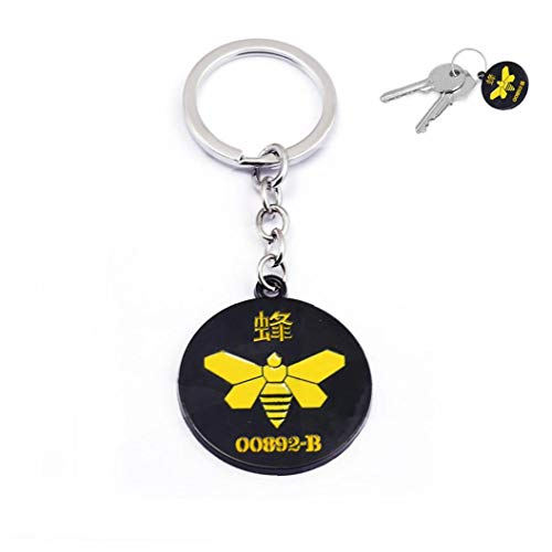 1PC Breaking Bad Merchandise Chemical Marker Bee Schlüsselanhänger Kühle Tv Props Breaking Bad Geschenke Keychain Bee 00892-b Symbol Schlüsselanhänger