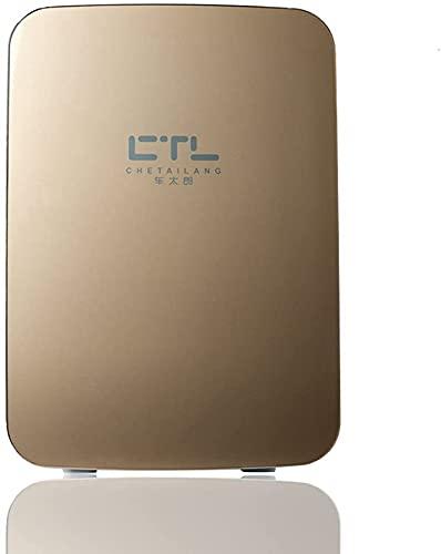 TANKKWEQ Mini refrigerador - 15L Tor Compacto Tiene 22 x 330ml latas  Inicio Dual Uso Mini incubadora fría y cálida Cional Apartamento Mini Nevera (Color : Gold)