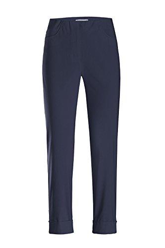Stehmann - Stretchhose Igor 680 - mit EXTRA-Fashion Armreif - Umschlag und Gesäßtaschen - Schmale Pull-On Hose, Hosengröße:38, Farbe:Marine - dunkelblau