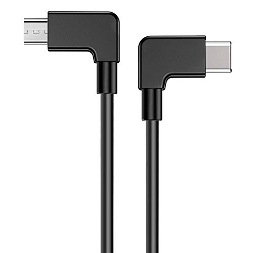 iEago RC Datenubertragungskabel Micro USB zu Typ C Anschluss 90 Grad rechtwinkliger Stecker Datenkabel fur DJI Mavic MiniPROSparkMavic AirMavic 2 Pro und Zoom ReglerNicht fur Mini 2
