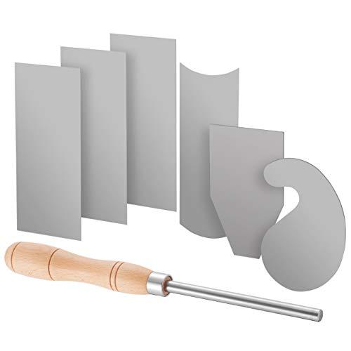 Fulton Scraper Burnisher with 6 Piece Multi-Shaped Card Scraper Set