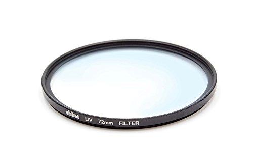 vhbw Universal UV Filter kompatibel mit Kamera Objektiven mit 72mm Filtergewinde - UV Schutzfilter, Schwarz