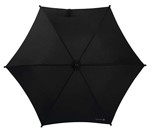 Mamas & Papas Universal Parasol, UPF 50+ Fabric, Easy Fit Clamp and Adjustable, Flexible Arm for Pram/Pushchair/Buggy - Black