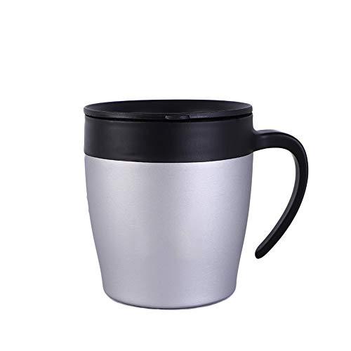 XASY Isolierbecher Edelstahl Kaffeetasse BPA-frei Griff Büro Tasse Geschenk Tasse 350ml