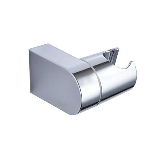 Supporto per doccia regolabile, supporto da parete per doccetta, con morsetto a scorrimento, cromato, argento, taglia unica