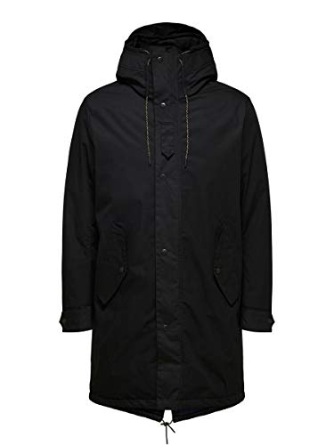 SELECTED HOMME Male Parka Fishtail SBlack