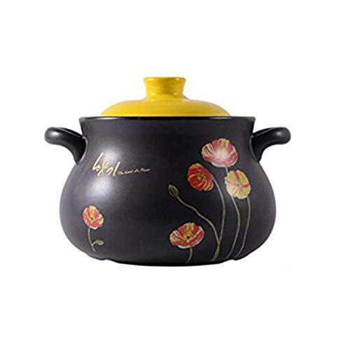 Poêle à frire anti-adhésive, casserole à soupe en céramique résistante à la chaleur, cocotte pour porridge, congé, riz, nouilles, citron vert, porcelaine - Pour usage domestique (taille : C)