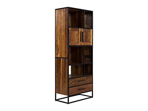 massivum Oklahoma Regal, Akazienholz, braun, 75 x 190 cm