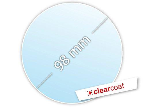.drivezero. Clearcoat Transparente Trägerfolie 98 mm für Umweltplakette/Feinstaubplakette