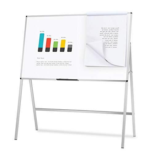 KSW_KKW Support Papier Mobile Tableau Blanc Hanging Paper Clip Bureau d'enseignement Salle de conférence Accueil Doodle Apprentissage Formation des Enfants Grand Tableau Blanc Pliable