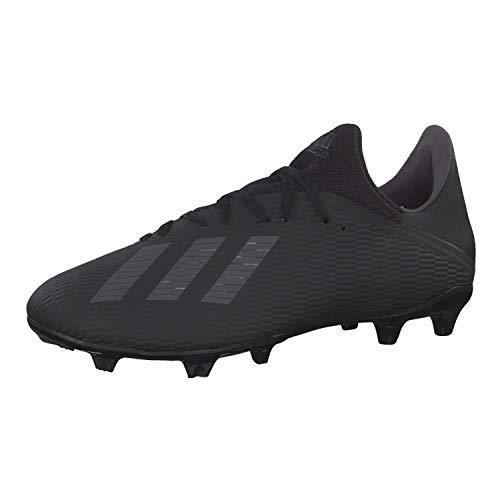 adidas X 19.3 Fg, Scarpe da Calcio Uomo, Nero (Core Black/Utility Black/Silver Met. Core Black/Utility Black/Silver Met.), 40 2/3 EU