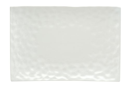 "Red Vanilla Marble Rectangular Platter, 12"" x 9.5"""