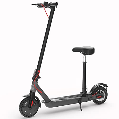 Hiboy S2 Electric Scooter with Seat - 8.5' Solid Tires - Up to 17 Miles & 19 MPH Folding Commuting...