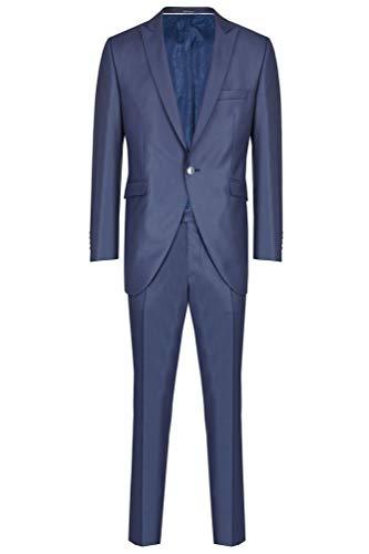 Wilvorst Hochzeitsanzug Trevor, Blau, rautenähnliche Struktur, Drop8, Titelmotiv 2018 Größe 106