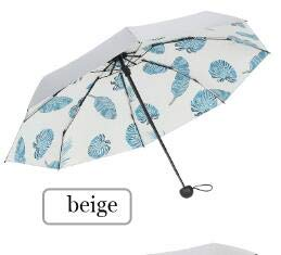ZGMMM Parasol, opvouwbaar, winddicht, voor dames, draagbaar, voor parasol Beige