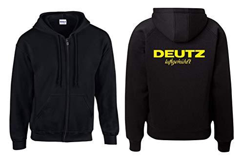 Textilhandel Hering Jacke - Deutz Luftgekühlt (Schwarz, XXL)