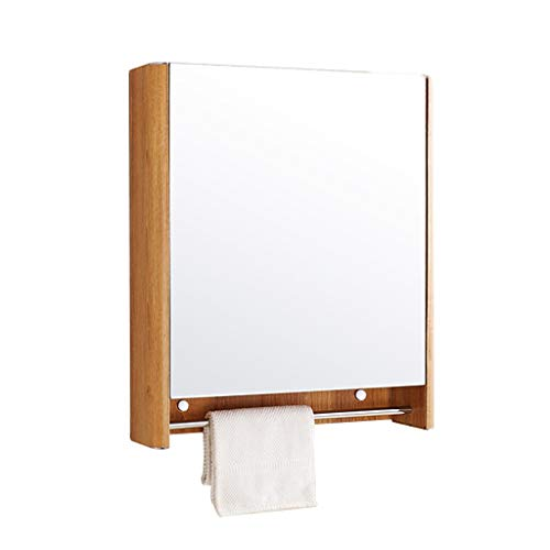 Armoire De Toilette Avec Porte Miroir Armoire De Toilette Avec Miroir De Chambre Armoire De Toilette Avec Miroir Porte-serviettes (Color : Brown, Size : 60 * 70 * 13cm)