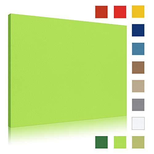 Akustikbild AbsorPic Stoff Premium Breitband Schall Absorber verbessert die Raumakustik | Viele Größen und Farben | Akustikbild 50 x 50 x 5cm - Farbe Gelbgrün | Made in GERMANY, Köln