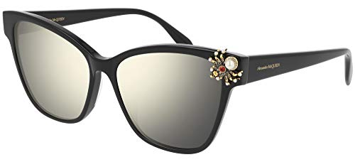 Gafas de Sol Alexander McQueen AM0269S BLACK/GOLD 57/16/145 mujer