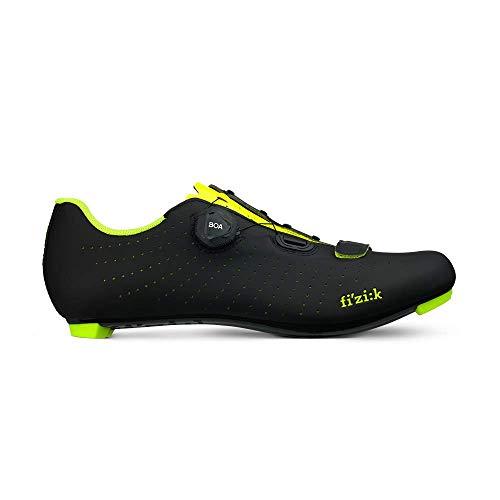 Fizik Tempo Overcurve R5 Chaussures pour vélo de Route, Black/Yellow Fluo