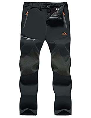 MAGCOMSEN Mens Waterproof Pants Snow Pants Ski Pants Winter Pants Mens Work Pants Hiking Pants Mens Snowboarding Pants Skiing Pants for Men