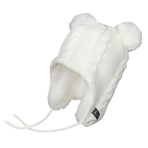 Ami&Li tots Bebé Invierno Infantil Niño Earflap Fleece Bear Caps Unisex Bebé Punto Caliente Algodón Crochet Beanie Hat