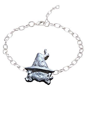 Witch FT248 Fußkettchen / Armband, englisches Zinn, 2,1 x 2,7 cm