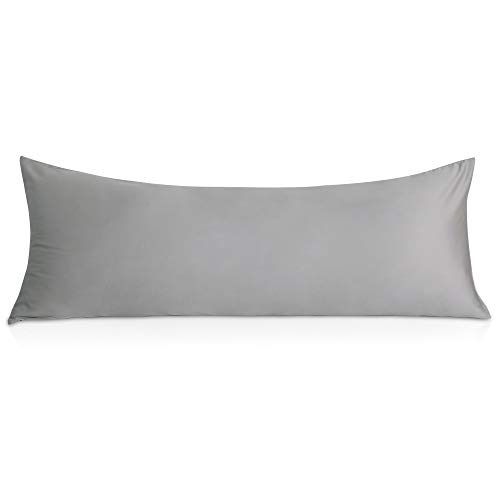 """OUBONUN Body Pillow Pillowcase (100% Tencel, 600 Thread Count) -21""""x 54"""" Long Body Pillow Case Cover, Ultra Soft Satin and Breathable Body Pillow Cover for Adults Pregnant Women"""
