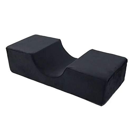 fsttm88 Memory Foam Pillow, Wimpernverlängerung Ergonomisches Spezialkissen, Schlafnackenstütze Kopfstütze(schwarz)