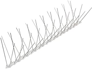 WEIDA Pack of 10 50CM Anti Bird Spikes Pest Control Stainless Steel 304 Wire PP Base Pigeon Spikes Gull Starling Pest 5M 93008001
