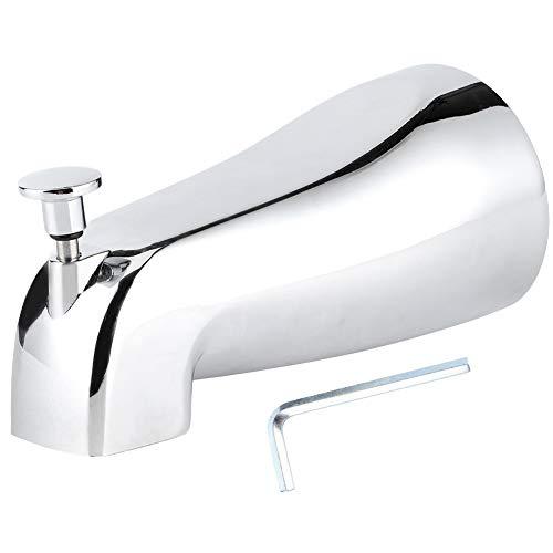 Grifo de bañera-Grifo de bañera de electrochapado montado en la pared Caño de bañera oculto con desviador de extracción