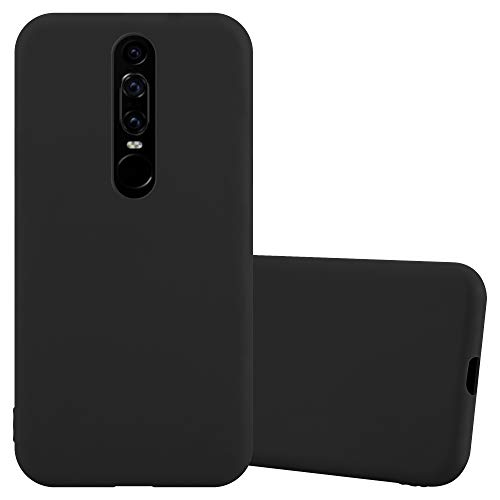 Cadorabo Hülle für Huawei Mate Rs in Candy SCHWARZ - Handyhülle aus flexiblem TPU Silikon - Silikonhülle Schutzhülle Ultra Slim Soft Back Cover Hülle Bumper