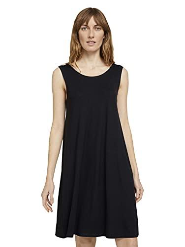TOM TAILOR Damen 1025867 Basic Jersey Kleid, 14482-Deep Black, 42