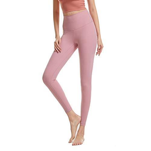 WANGT Leggings De Yoga para Mujeres Mallas Pantalones Deportivos con Bolsillos,Control De Cintura Alta Y Barriga,Elásticos Y Transpirables para Running Yoga Fitness Gym,M