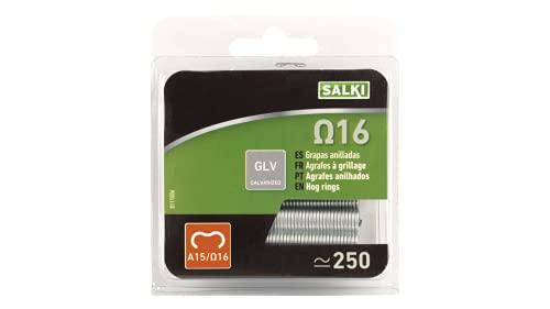 salki Blister 250u (Ω16) para Grapado Cercassalki 0111006 Grapa Galvanizada Omega 16 para Anillado de Cercas, Metal, L
