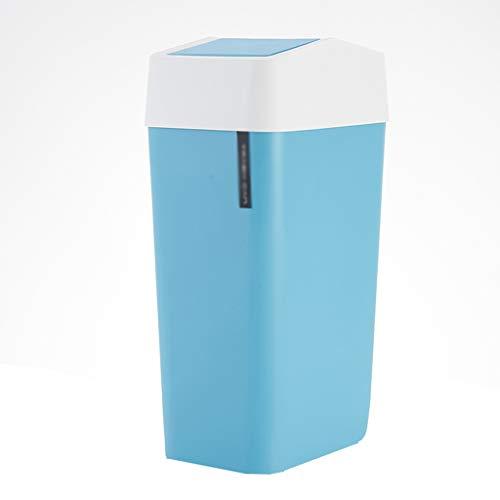 Superficie lisa Revolving Box Hotel Cuña Cocina Papelera Recipiente de plástico gris, azul, blanco multifunción Papelera 40 x 22 x 158 cm, diseño reciclable (color azul, tamaño: 40 x 22 x 158 cm).