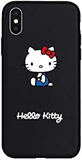 1 piece Hello Kitty Cute Cartoon Cat Soft Case for iPhone 5 5s SE 6 6Plus 6s 6sPlus 7 7Plus 8 8Plus X Xs XR Xs Max Phone Cover Coque