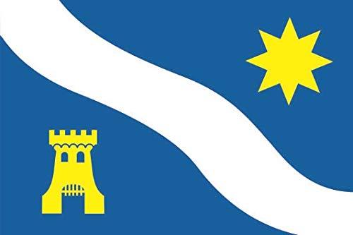 U24 Sticker Alphen aan den Rijn (Nederland) vlag vlag 8 x 5 cm autosticker sticker sticker