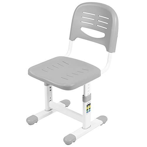 VIVO Height Adjustable Kids Desk Chair, Chair Only, Designed for Interactive Workstation, Universal Children's Ergonomic Seat, Gray, DESK-V201G-CH
