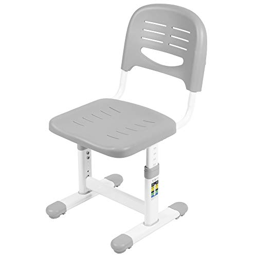VIVO Gray Height Adjustable Kids Desk Chair, Chair Only, Designed for Interactive Workstation, Universal Children's Ergonomic Seat, DESK-V201G-CH