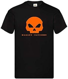 Maglietta T-Shirt motorcicle moto ispirata Harley Davidson Mid Skull