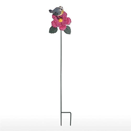 ZAIZAI Estaca de pájaro y Flor de jardín Grande en Miniatura, estaca Rosa de jilguero, estaca de Hierro Creativa para Patio, decoración de otoño, decoración de césped al Aire Libre
