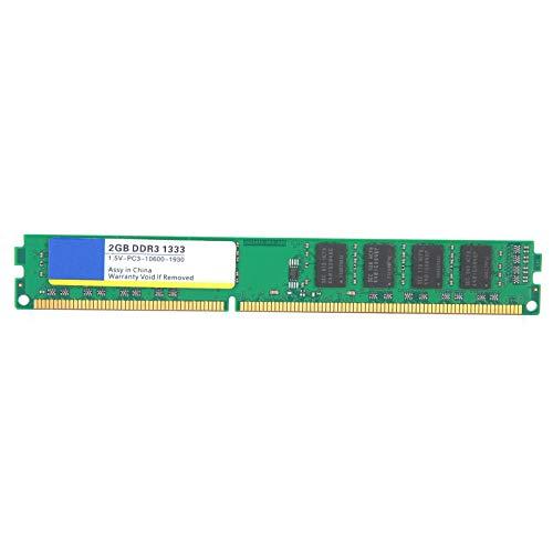 Barra de Memoria de computadora DDR3 2GB 1333Mhz, Barra de Memoria RAM de Escritorio 2GB con Respuesta rápida y Respuesta rápida, Rendimiento Estable