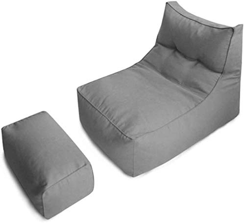 Canapé lit LHY- Lazy Beanbag Chaise avec Repose-Pieds rectangulaire Lazy for Casual intérieur Canapés Doux (Color : Light Gray)