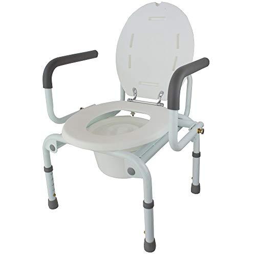 Mobiclinic Toilettenstuhl mit klappbaren Armlehnen, Höhenverstellbar, Modell Cabo